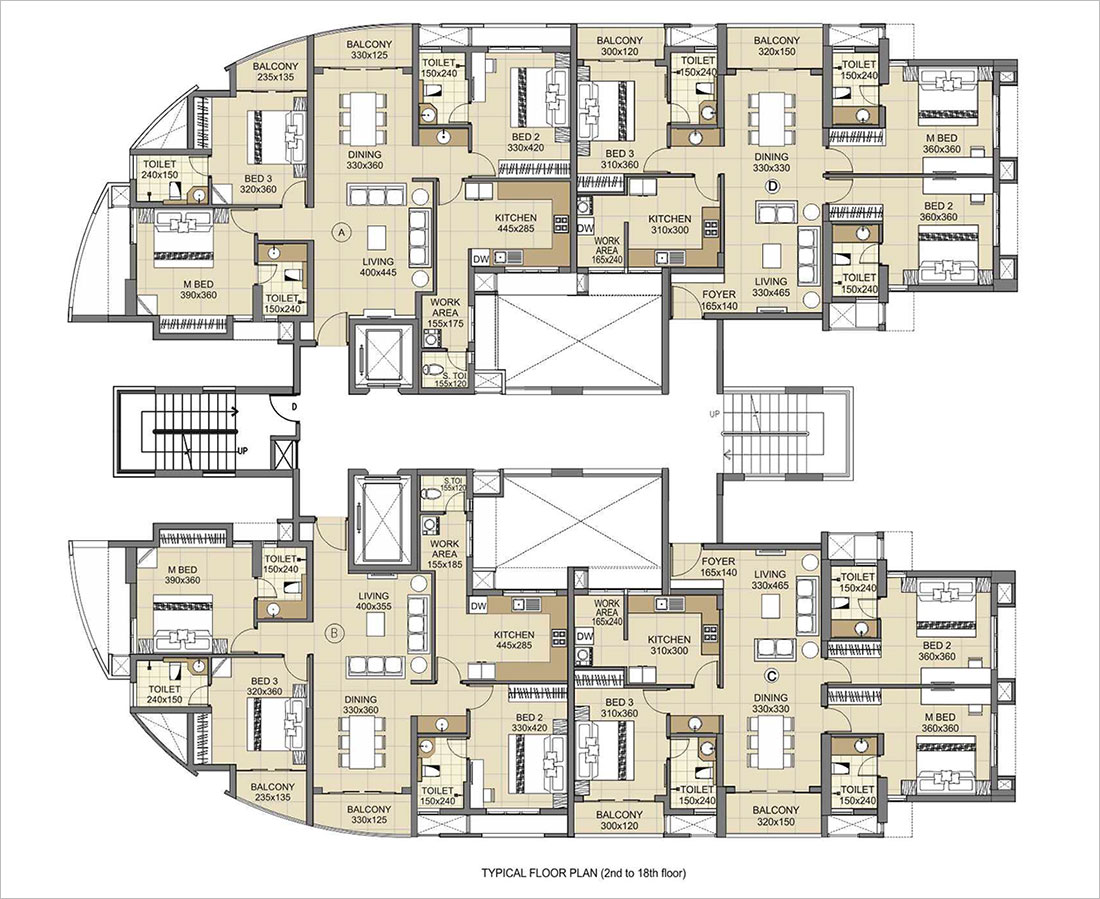 100 Bank Of China Tower Floor Plan Water And Power